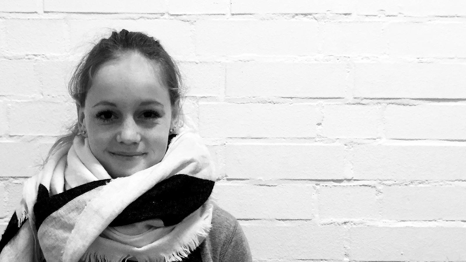 Alina Wienand, Auszubildende zur Mediengestalterin