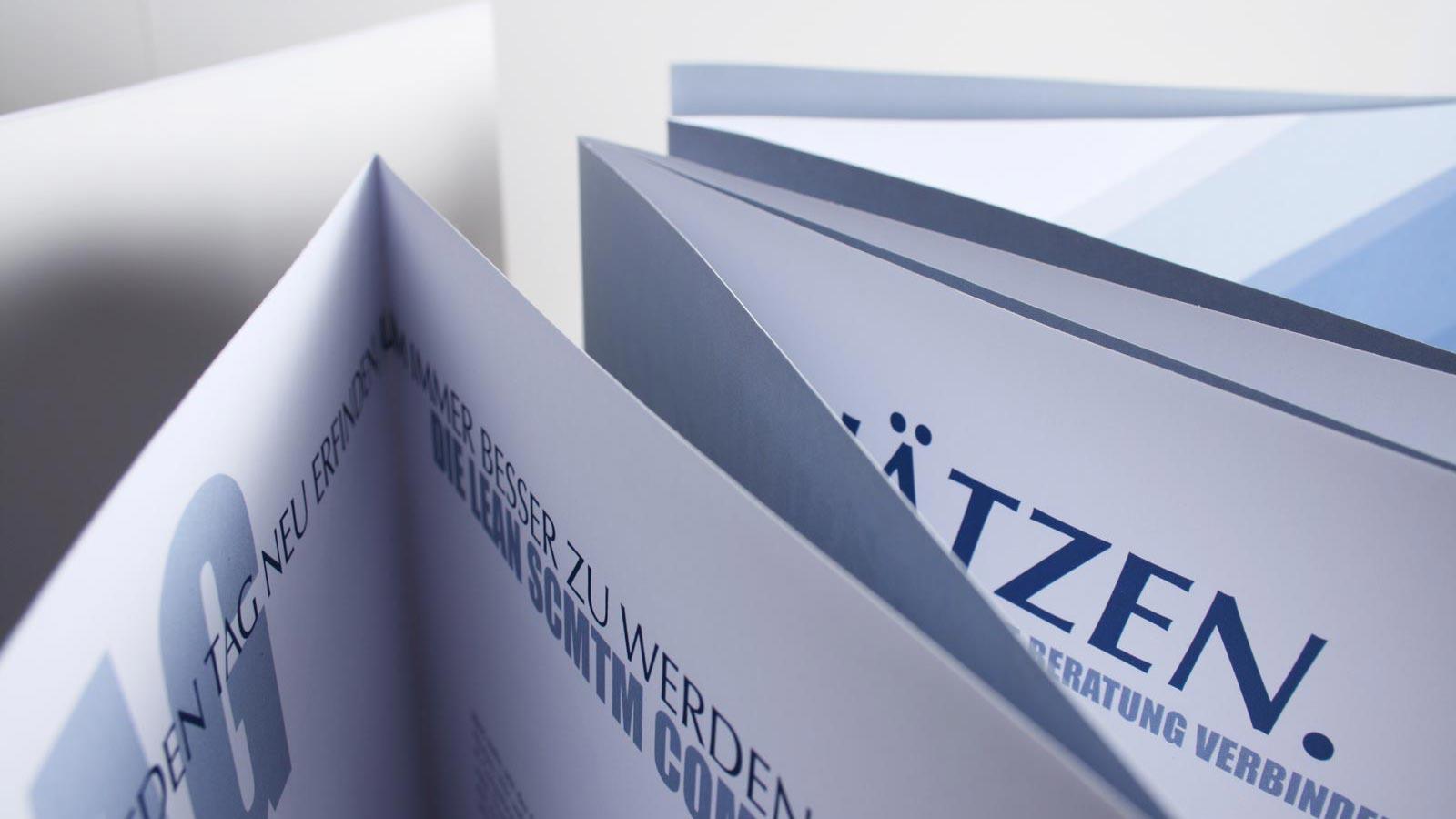 Konzept Zickzack