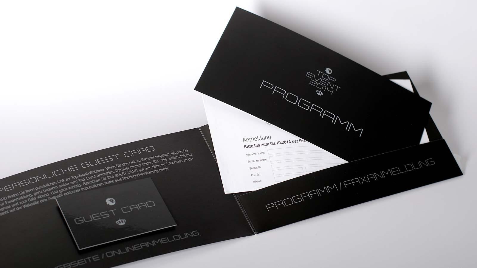 Einladung mit persönlicher Gästekarte