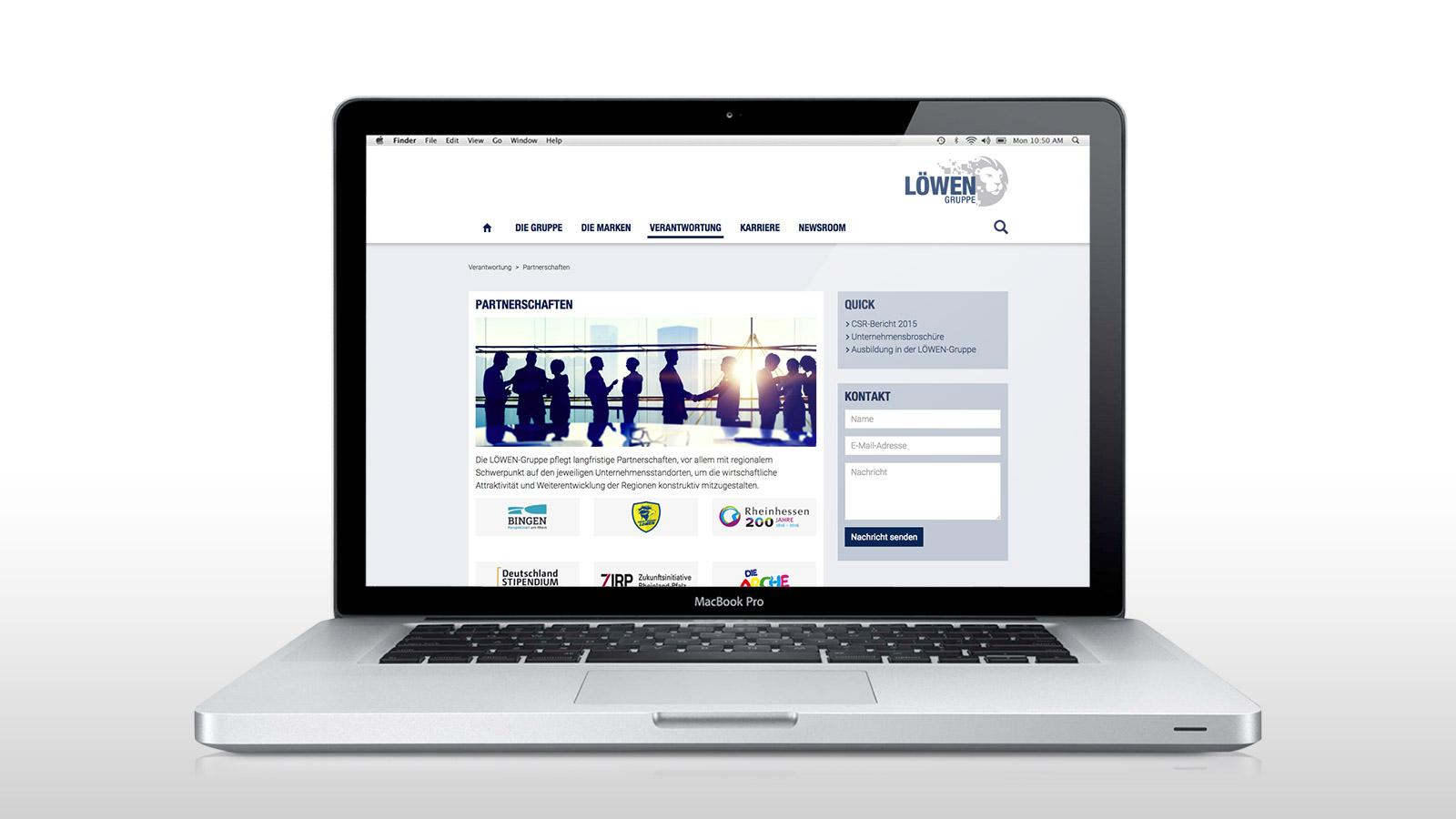 Responsive Website der LÖWEN-Gruppe