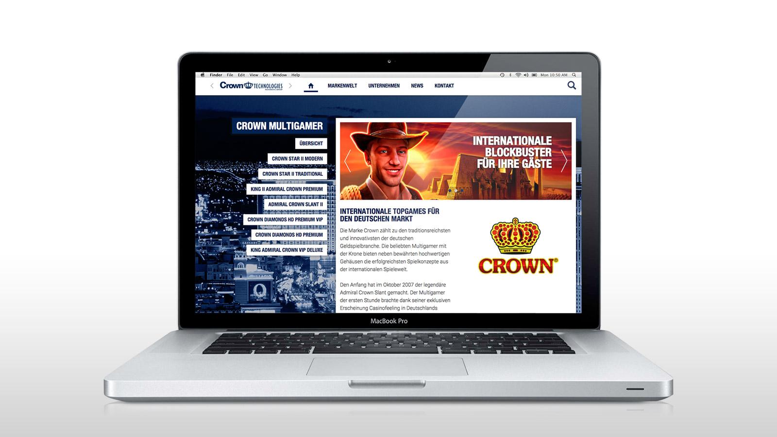 Produkt-Microsite für CROWN Multigamer